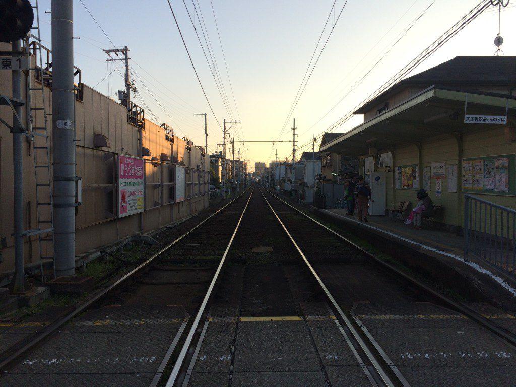 阪堺電車の線路